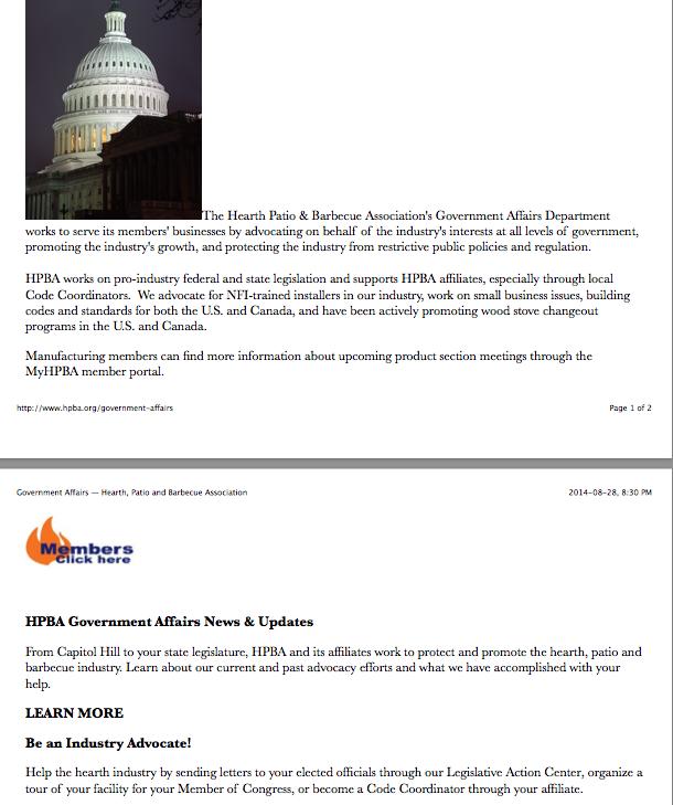 HPBA-Pro-industry.Lobbying